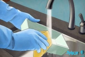 شستن طبقات یخچال