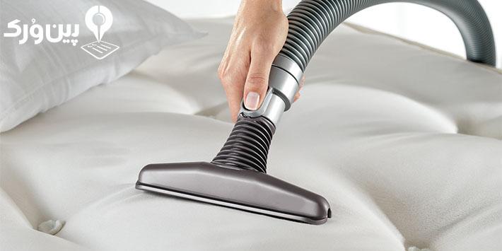 روش تمیز کردن تشک تخت