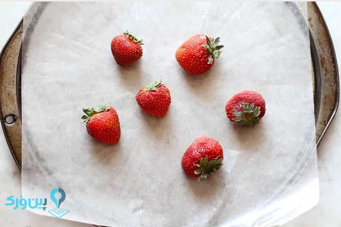 بهترین راه فریز کردن توت فرنگی