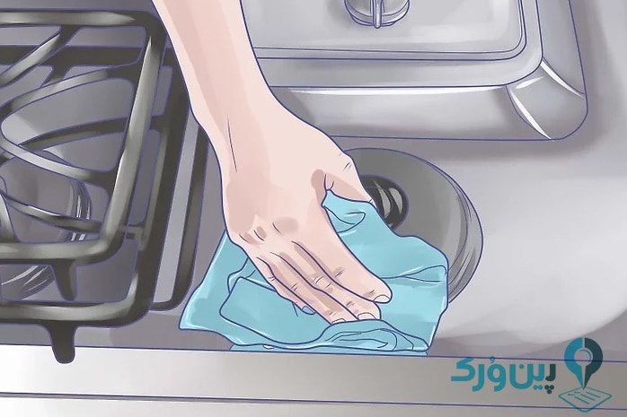 نحوه تمیز کردن آشپزخانه 2