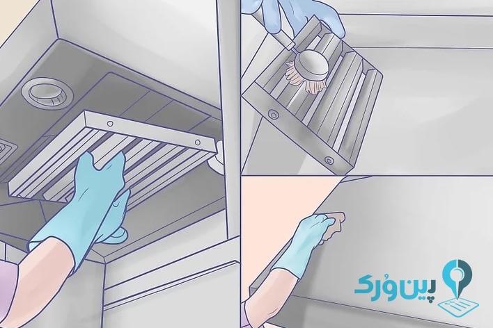 نحوه تمیز کردن آشپزخانه 4