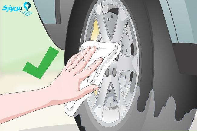 شستن حرفه ای لاستیک و رینگ 11
