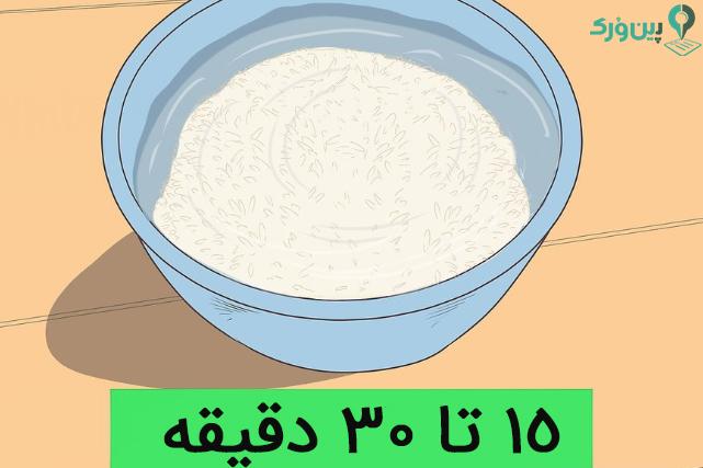 خیس خوردن برنج