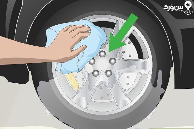 شستن حرفه ای لاستیک و رینگ 5
