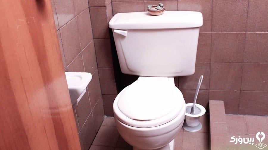 مرتب نگه داشتن توالت