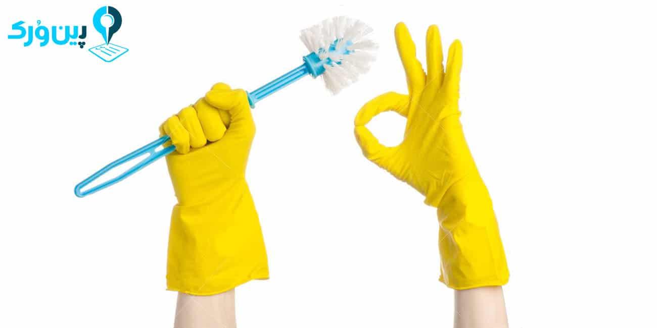 تمیز کردن فرچه دستشویی