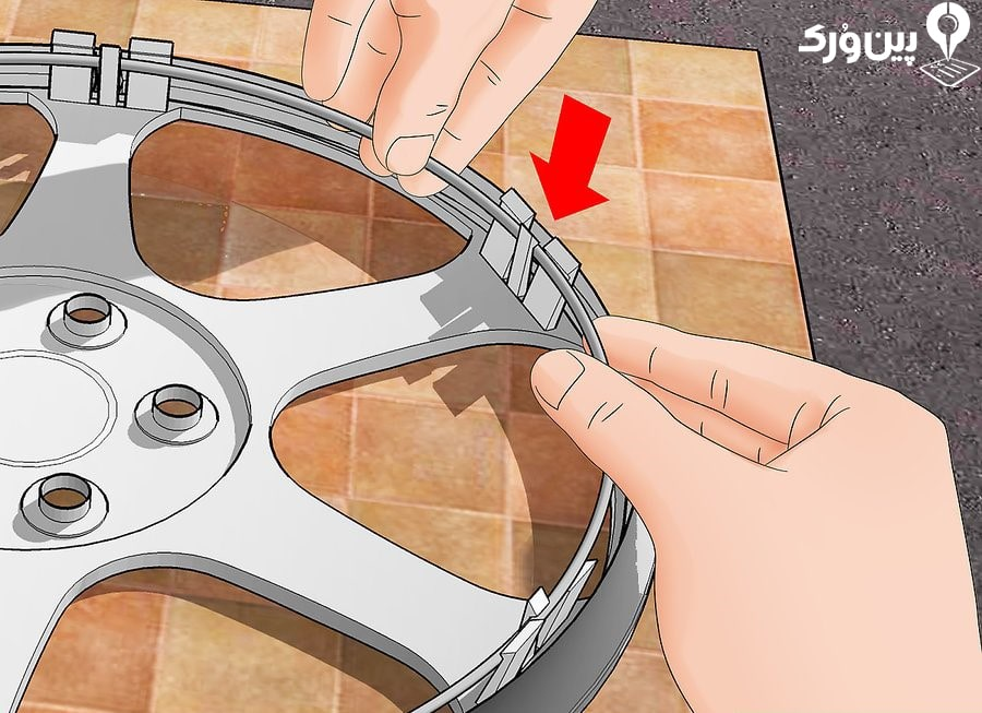 جا زدن حلقه نگهدارنده در سوکت های قالپاق