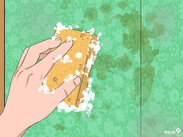 تمیزکردن دیوار با آب و صابون