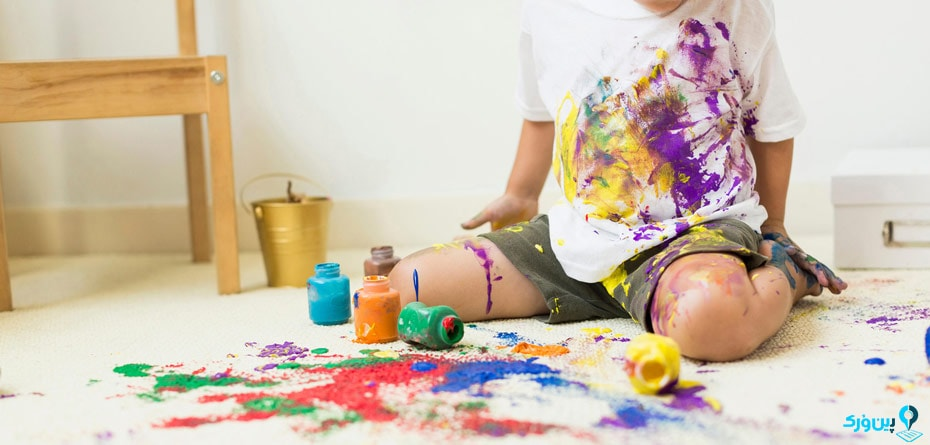 پاک کردن رنگ اکریلیک از روی لباس