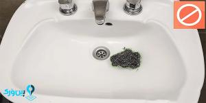 اسکاچ سیمی در شستن در سینک