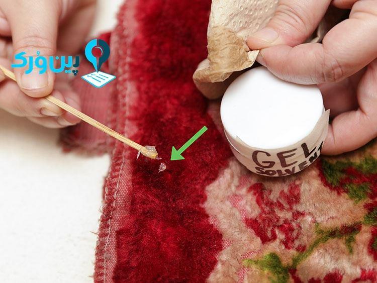 پاک کردن لاک از روی فرش با اسپری مو!