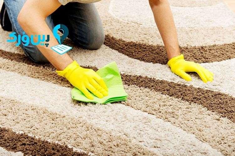 از بین بردن لکه لاک ناخن از روی فرش با آب اکسیژنه