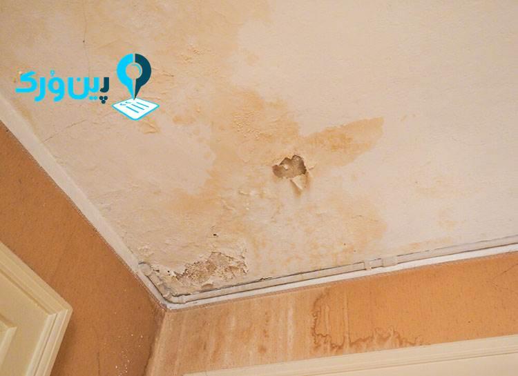 از بین بردن لکه رنگ از روی دیوار نمور