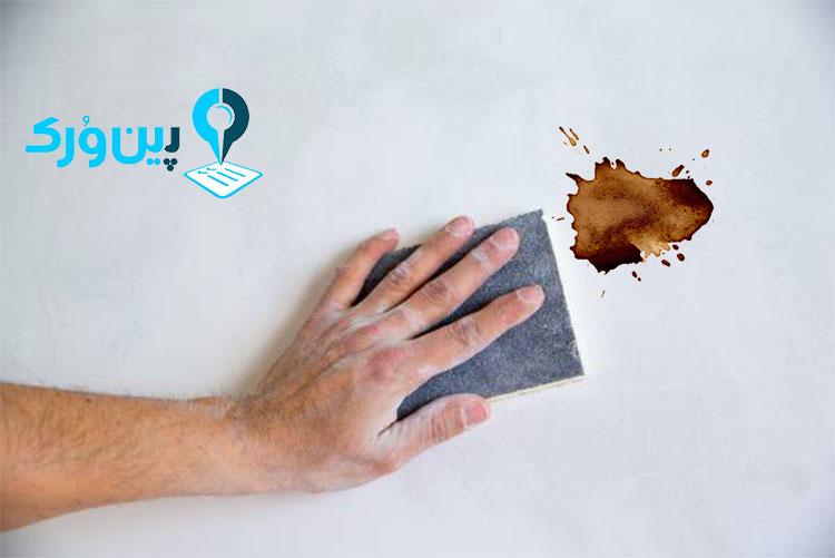 از بین بردن لکه قهوه از روی دیوار بدون آب