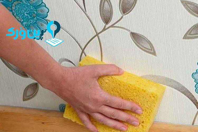 پاک کردن لکه چربی از روی کاغذ دیواری