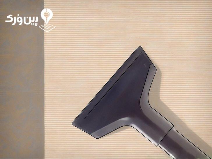 تمیز کردن کاغذدیواری با جاروبرقی