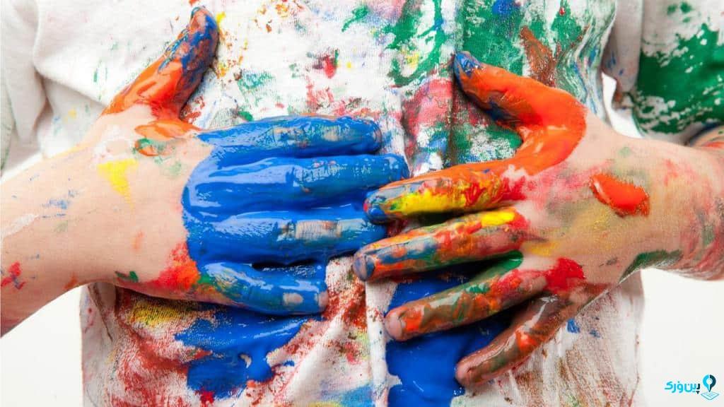 پاک کردن لکه رنگ از روی لباس