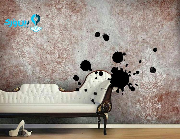 از بین بردن لکه جوهر از روی کاغذ دیواری با گچ