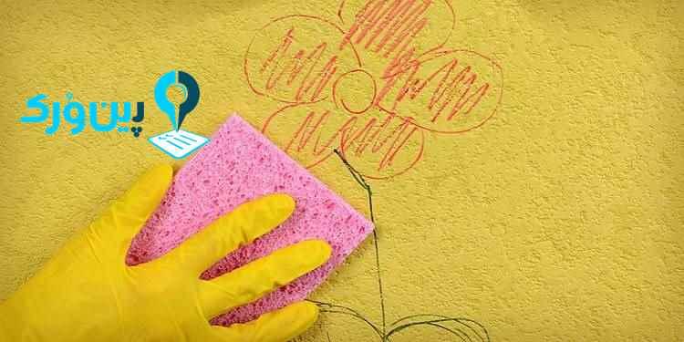 از بین بردن لکه رنگ از روی دیوار با خمیر دندان