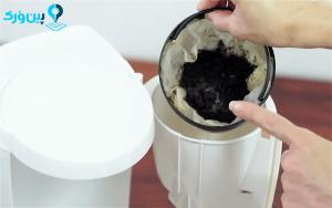 شستن فیلتر قهوه ساز