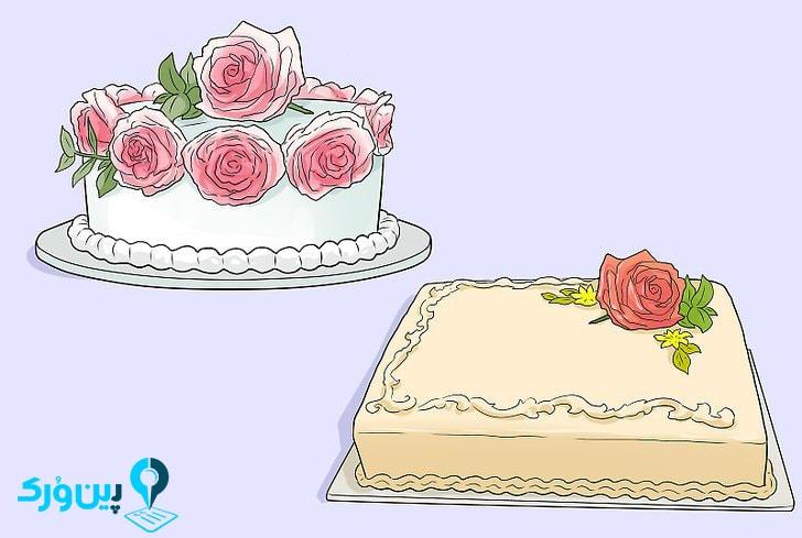 انتخاب یک کیک اصلی و یک کیک جایگزین