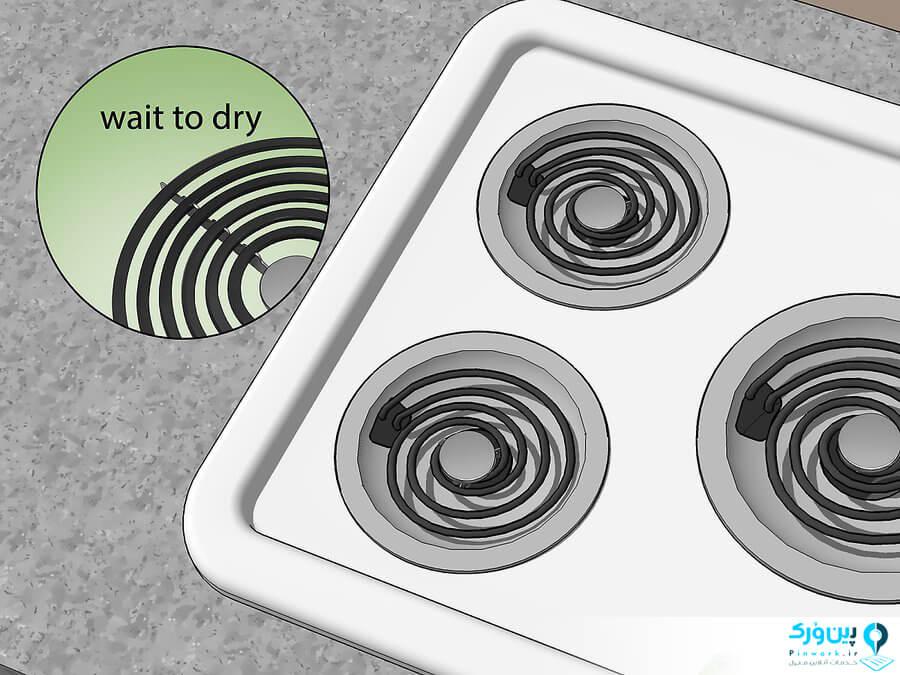 روش 3: شستن اجاق گاز و استفاده از روغن گیرها