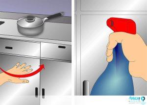 از بین بردن لکه های کابینت آشپزخانه