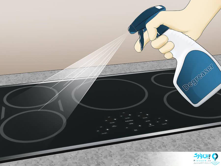 روش 4: شستن گاز و تمیز کردن سطح گاز
