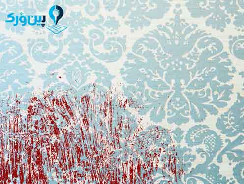 پاک کردن لکه خون از روی کاغذ دیواری