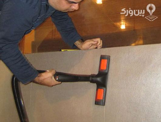 شستشوی کاغذ دیواری با بخار شو
