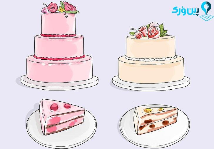 سفارش و سرو کیک به قطعات کوچک تر