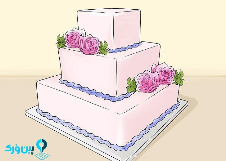 سفارش کیک مربعی