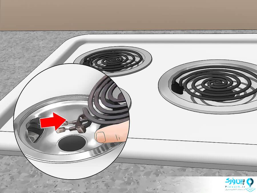 شستن اجاق گازهای الکتریکی