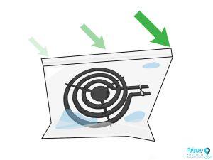 استفاده از محلول آمونیاک در تمیز کردن شعله گاز