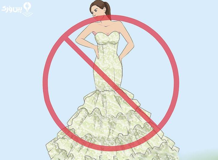 عوم انتخاب لباس عروس مدل پری دریایی