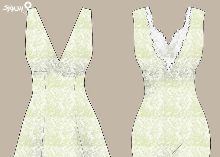 لباس عروس آستین حلقه ای
