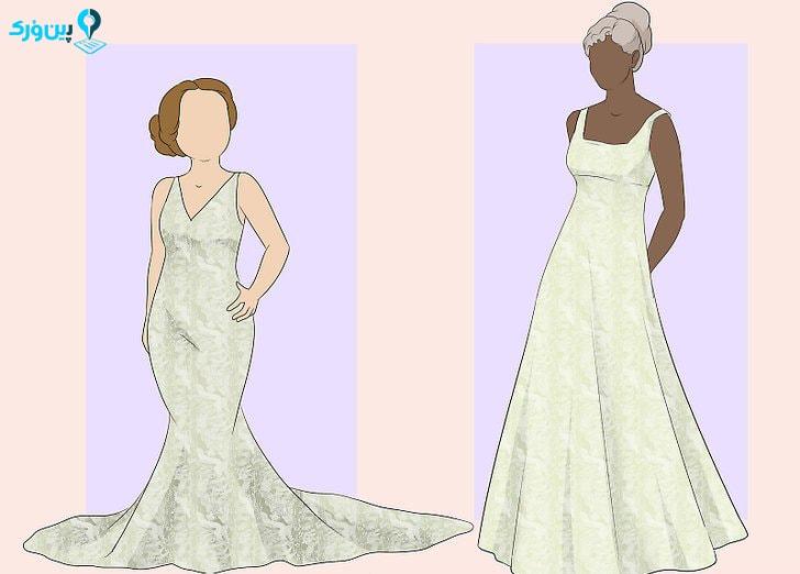 انتخاب لباس عروس با توجه قدتان