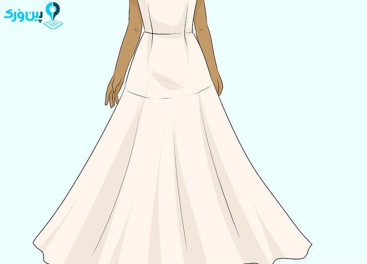 انتخاب لباس عروس با دامن فون