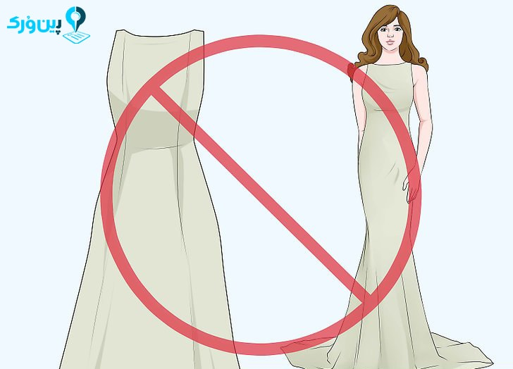 لباس عروس با یقه ی پوشیده