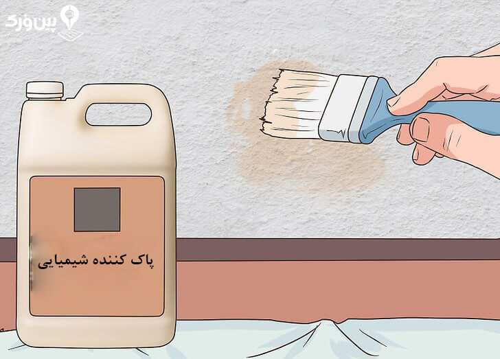 تمیز کردن دیوار گچی با پاک کننده ی صنعتی