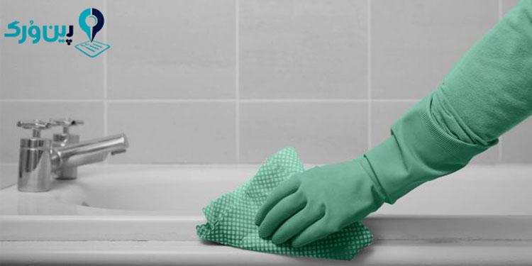 شستن وان لعابی