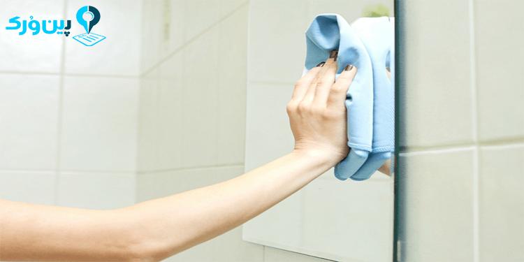 تمیز کردن آینه با مواد طبیعی