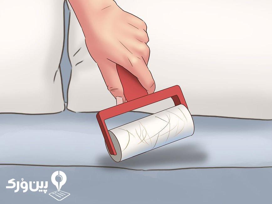 تمیز کردن موی حیوانات از روی مبل