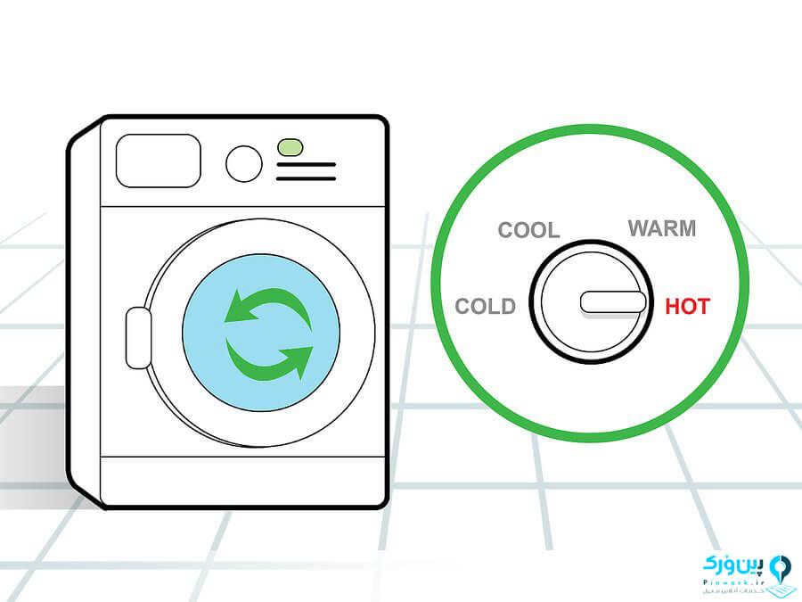 تنظیم آب دغ ماشین لباسشویی