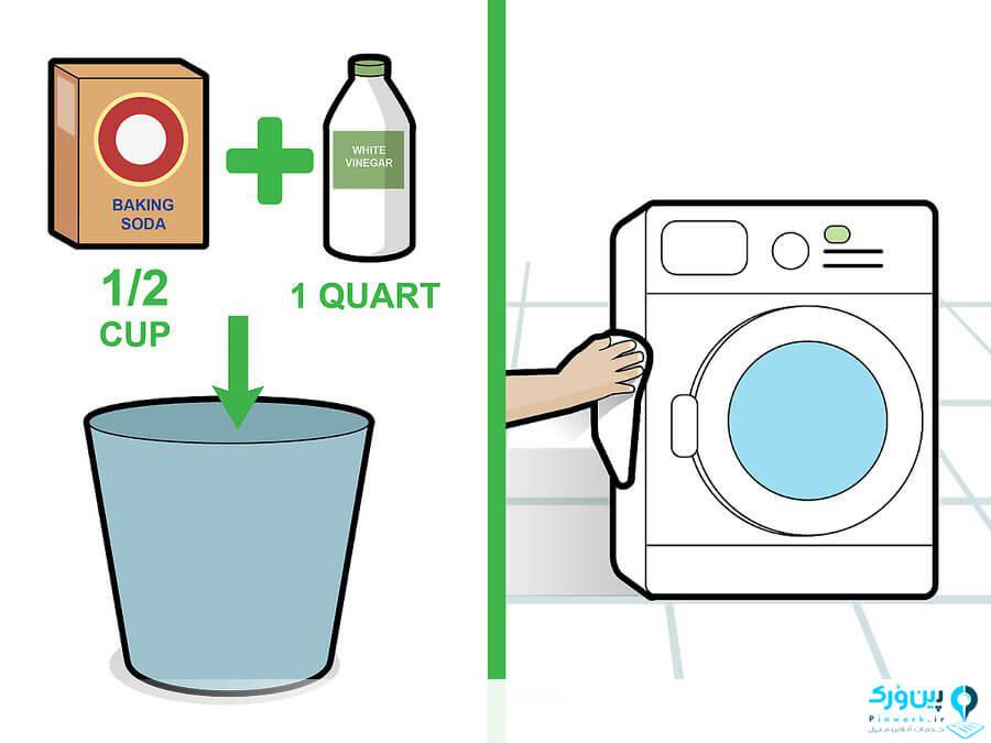 شستن بدنه ماشین لباسشویی