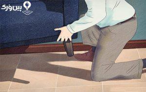جابجایی وسایل سنگین با زانوها
