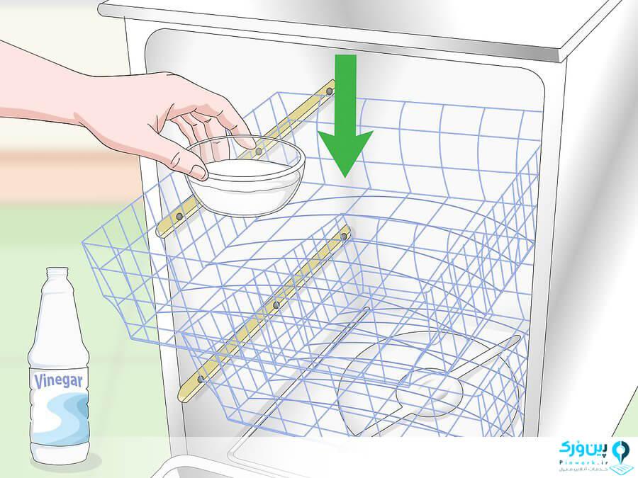 تمیز کردن ماشین ظرفشویی با سرکه