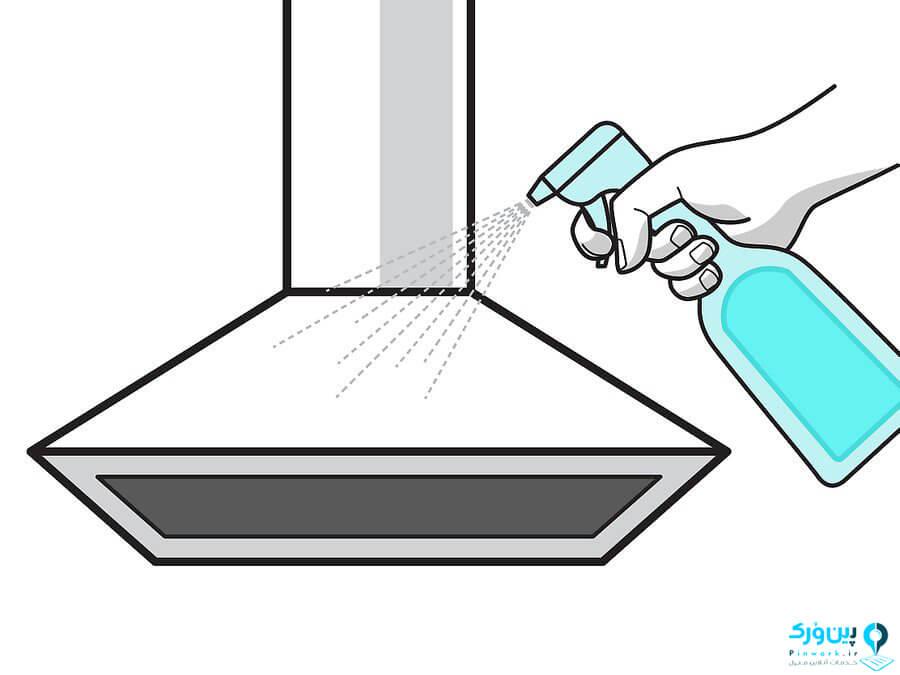 تمیز کردن هود آشپزخانه