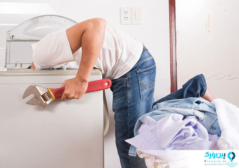 نصب کردن ماشین لباسشویی