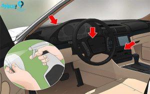 تمیز کردن اجزای داخلی ماشین